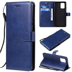 Retro Greek Classic Smooth PU Leather Wallet Phone Case for Samsung Galaxy S10 Lite(6.7 inch) - Blue