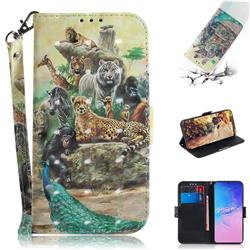 Beast Zoo 3D Painted Leather Wallet Phone Case for Samsung Galaxy S10 Lite(6.7 inch)