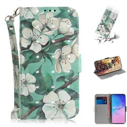 Watercolor Flower 3D Painted Leather Wallet Phone Case for Samsung Galaxy S10 Lite(6.7 inch)