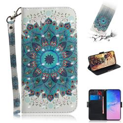 Peacock Mandala 3D Painted Leather Wallet Phone Case for Samsung Galaxy S10 Lite(6.7 inch)
