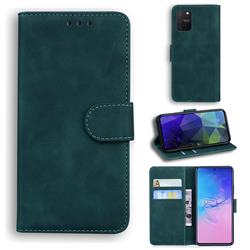 Retro Classic Skin Feel Leather Wallet Phone Case for Samsung Galaxy S10 Lite(6.7 inch) - Green
