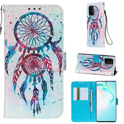 ColorDrops Wind Chimes 3D Painted Leather Wallet Case for Samsung Galaxy S10 Lite(6.7 inch)