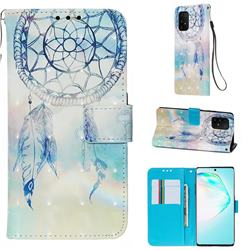 Fantasy Campanula 3D Painted Leather Wallet Case for Samsung Galaxy S10 Lite(6.7 inch)