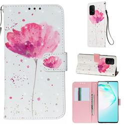 Watercolor 3D Painted Leather Wallet Case for Samsung Galaxy S10 Lite(6.7 inch)