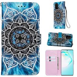 Underwater Mandala Matte Leather Wallet Phone Case for Samsung Galaxy S10 Lite(6.7 inch)