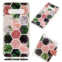 Rainforest Soft TPU Marble Pattern Phone Case for Samsung Galaxy S10 Plus(6.4 inch)
