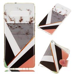 Pinstripe Soft TPU Marble Pattern Phone Case for Samsung Galaxy S10 Plus(6.4 inch)