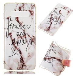 Forever Soft TPU Marble Pattern Phone Case for Samsung Galaxy S10 Plus(6.4 inch)