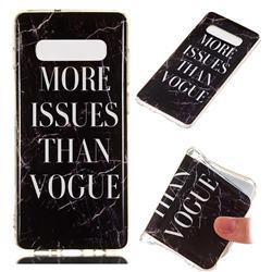 Stylish Black Soft TPU Marble Pattern Phone Case for Samsung Galaxy S10 Plus(6.4 inch)