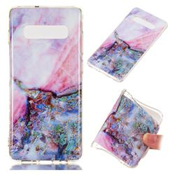 Purple Amber Soft TPU Marble Pattern Phone Case for Samsung Galaxy S10 Plus(6.4 inch)