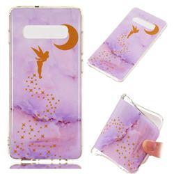 Elf Purple Soft TPU Marble Pattern Phone Case for Samsung Galaxy S10 Plus(6.4 inch)