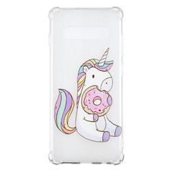 Donut Unicorn Anti-fall Clear Varnish Soft TPU Back Cover for Samsung Galaxy S10 Plus(6.4 inch)
