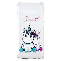 Sweet Unicorn Anti-fall Clear Varnish Soft TPU Back Cover for Samsung Galaxy S10 Plus(6.4 inch)