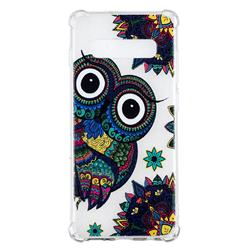 Owl Totem Anti-fall Clear Varnish Soft TPU Back Cover for Samsung Galaxy S10 Plus(6.4 inch)