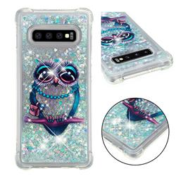 Sweet Gray Owl Dynamic Liquid Glitter Sand Quicksand Star TPU Case for Samsung Galaxy S10 Plus(6.4 inch)