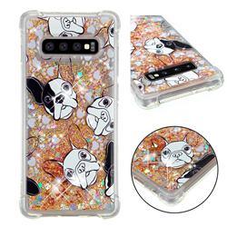 Bulldog Dynamic Liquid Glitter Sand Quicksand Star TPU Case for Samsung Galaxy S10 Plus(6.4 inch)