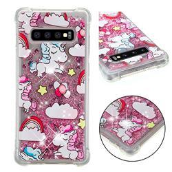 Angel Pony Dynamic Liquid Glitter Sand Quicksand Star TPU Case for Samsung Galaxy S10 Plus(6.4 inch)