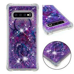 Retro Wind Chimes Dynamic Liquid Glitter Sand Quicksand Star TPU Case for Samsung Galaxy S10 Plus(6.4 inch)