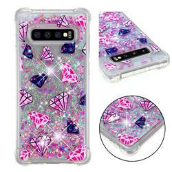 Diamond Dynamic Liquid Glitter Sand Quicksand Star TPU Case for Samsung Galaxy S10 Plus(6.4 inch)