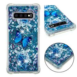 Flower Butterfly Dynamic Liquid Glitter Sand Quicksand Star TPU Case for Samsung Galaxy S10 Plus(6.4 inch)