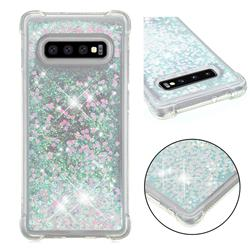 Dynamic Liquid Glitter Sand Quicksand Star TPU Case for Samsung Galaxy S10 Plus(6.4 inch) - Pink