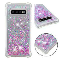 Dynamic Liquid Glitter Sand Quicksand Star TPU Case for Samsung Galaxy S10 Plus(6.4 inch) - Rose