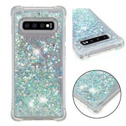 Dynamic Liquid Glitter Sand Quicksand Star TPU Case for Samsung Galaxy S10 Plus(6.4 inch) - Silver