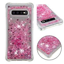 Dynamic Liquid Glitter Sand Quicksand Star TPU Case for Samsung Galaxy S10 Plus(6.4 inch) - Diamond Rose