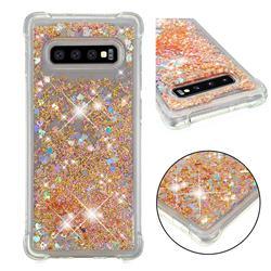 Dynamic Liquid Glitter Sand Quicksand Star TPU Case for Samsung Galaxy S10 Plus(6.4 inch) - Diamond Gold