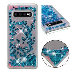 Dynamic Liquid Glitter Quicksand Sequins TPU Phone Case for Samsung Galaxy S10 Plus(6.4 inch) - Blue