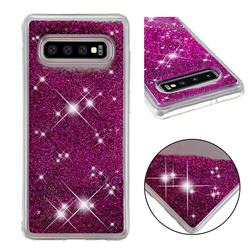 Dynamic Liquid Glitter Quicksand Sequins TPU Phone Case for Samsung Galaxy S10 Plus(6.4 inch) - Purple