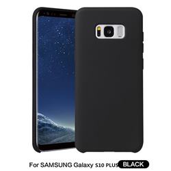 Howmak Slim Liquid Silicone Rubber Shockproof Phone Case Cover for Samsung Galaxy S10 Plus(6.4 inch) - Black