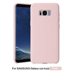 Howmak Slim Liquid Silicone Rubber Shockproof Phone Case Cover for Samsung Galaxy S10 Plus(6.4 inch) - Pink