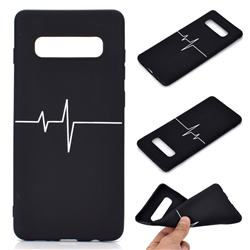 Electrocardiogram Chalk Drawing Matte Black TPU Phone Cover for Samsung Galaxy S10 Plus(6.4 inch)