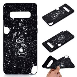 Travel The Universe Chalk Drawing Matte Black TPU Phone Cover for Samsung Galaxy S10 Plus(6.4 inch)