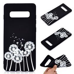 Dandelion Chalk Drawing Matte Black TPU Phone Cover for Samsung Galaxy S10 Plus(6.4 inch)