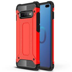 King Kong Armor Premium Shockproof Dual Layer Rugged Hard Cover for Samsung Galaxy S10 Plus(6.4 inch) - Big Red
