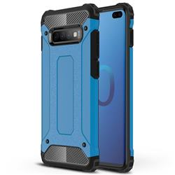 King Kong Armor Premium Shockproof Dual Layer Rugged Hard Cover for Samsung Galaxy S10 Plus(6.4 inch) - Sky Blue
