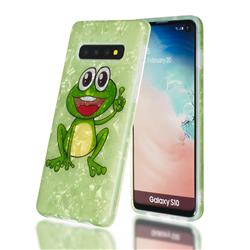Smile Frog Shell Pattern Clear Bumper Glossy Rubber Silicone Phone Case for Samsung Galaxy S10 Plus(6.4 inch)