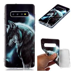 Fierce Wolf Soft TPU Cell Phone Back Cover for Samsung Galaxy S10 Plus(6.4 inch)