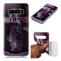 Cat and Tiger Soft TPU Cell Phone Back Cover for Samsung Galaxy S10 Plus(6.4 inch)