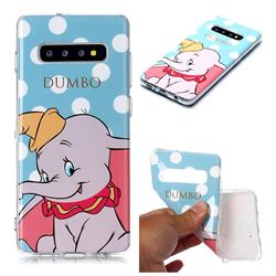 Dumbo Elephant Soft TPU Cell Phone Back Cover for Samsung Galaxy S10 Plus(6.4 inch)