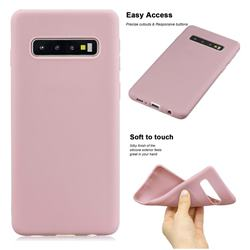 Soft Matte Silicone Phone Cover for Samsung Galaxy S10 Plus(6.4 inch) - Lotus Color