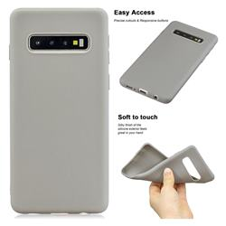 Soft Matte Silicone Phone Cover for Samsung Galaxy S10 Plus(6.4 inch) - Gray