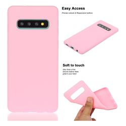 Soft Matte Silicone Phone Cover for Samsung Galaxy S10 Plus(6.4 inch) - Rose Red
