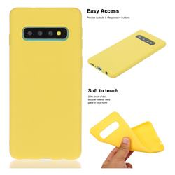 Soft Matte Silicone Phone Cover for Samsung Galaxy S10 Plus(6.4 inch) - Yellow
