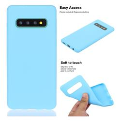 Soft Matte Silicone Phone Cover for Samsung Galaxy S10 Plus(6.4 inch) - Sky Blue