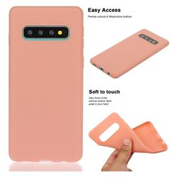 Soft Matte Silicone Phone Cover for Samsung Galaxy S10 Plus(6.4 inch) - Coral Orange