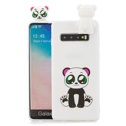 Panda Soft 3D Climbing Doll Stand Soft Case for Samsung Galaxy S10 Plus(6.4 inch)