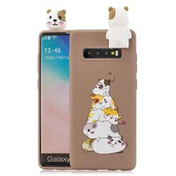 Hamster Family Soft 3D Climbing Doll Stand Soft Case for Samsung Galaxy S10 Plus(6.4 inch)